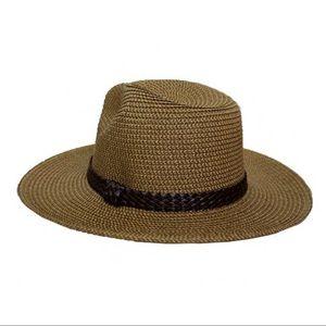 Infinity Raine Accessories - RESTOCK✨Panama hat with braided vegan leather trim